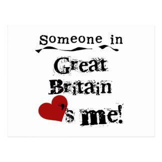 Cartão Postal Alguém em Grâ Bretanha ama-me