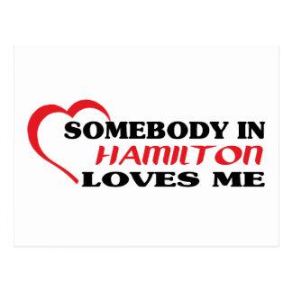 Cartão Postal Alguém em Hamilton ama-me