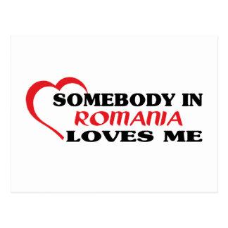 Cartão Postal Alguém em Romania ama-me