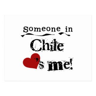 Cartão Postal Alguém no Chile ama-me