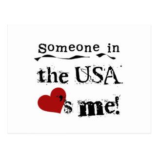 Cartão Postal Alguém nos EUA ama-me