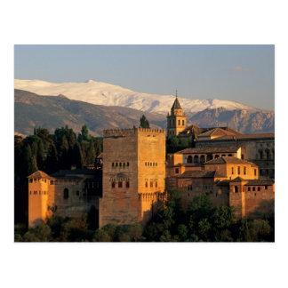 Cartão Postal Alhambra; Granada; Andaslusia, espanha, serra