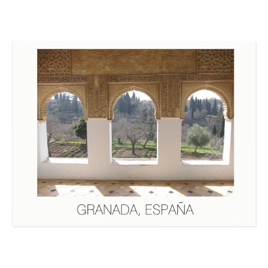 Cartão Postal Alhambra windows ~ Granada, Spain