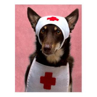 Cartão Postal Aliado da enfermeira
