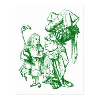 Cartão Postal Alice e a duquesa Inked Verde