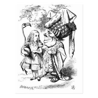 Cartão Postal Alice e a rainha vermelha