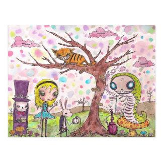 Cartão Postal Alice e amigos
