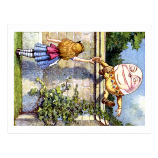Cartão Postal Alice e Humpty Dumpty no país das maravilhas