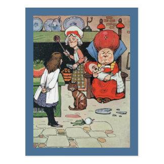 Cartão Postal Alice e o cozinheiro