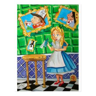 Cartão Postal Alice no país das maravilhas, bebe-me. Hatter