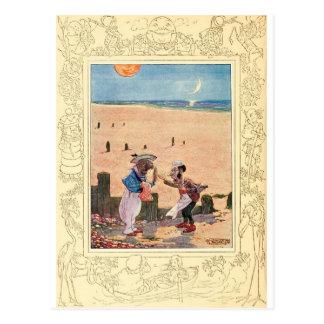 Cartão Postal Alice no país das maravilhas, na morsa e no