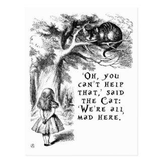 Cartão Postal Alice no país das maravilhas - nós somos tudo