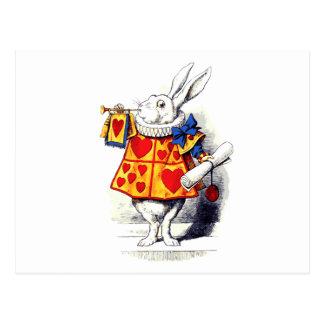 Cartão Postal Alice no país das maravilhas o coelho branco por