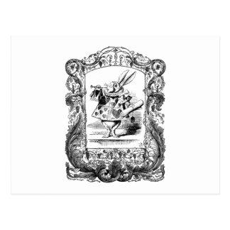 Cartão Postal Alice no quadro ornamentado Vinta do chifre do