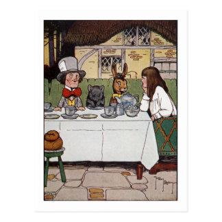 Cartão Postal Alice no tea party louco