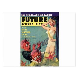 Cartão Postal Aliens e rainha da beleza