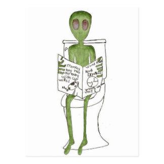Cartão Postal Aliens expor