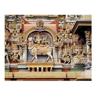 Cartão Postal Alivio que descreve a equitação de Shiva e de