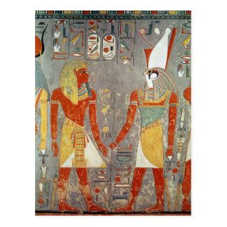 Cartão Postal Alivio que descreve Horemheb antes de Horus