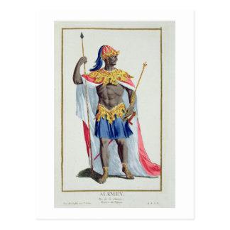 Cartão Postal Alkmey, rei da Guiné 'de DES Estampes de Receuil,
