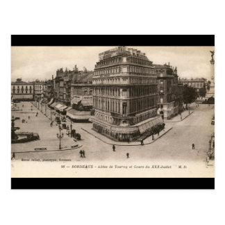 Cartão Postal Allees de Tourny, vintage do Bordéus, France