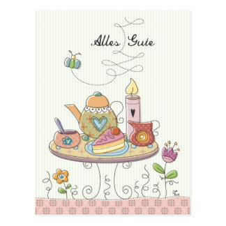 Cartão Postal Alles Gute