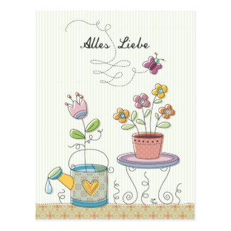 Cartão Postal Alles Liebe