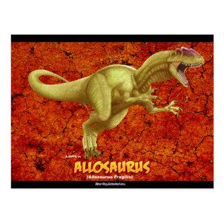 Cartão Postal Allosaurus
