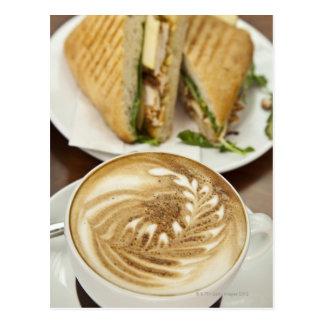 Cartão Postal Almoço do Cappuccino e do panini