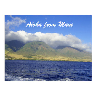 Cartão Postal Aloha de Maui Havaí