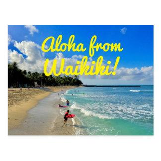 Cartão Postal Aloha de Waikiki