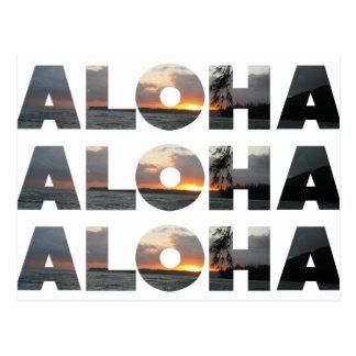 Cartão Postal Aloha por do sol