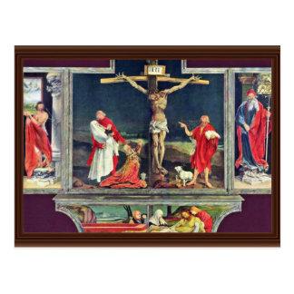 Cartão Postal Altar anterior do altar de Isenheim no Antonine