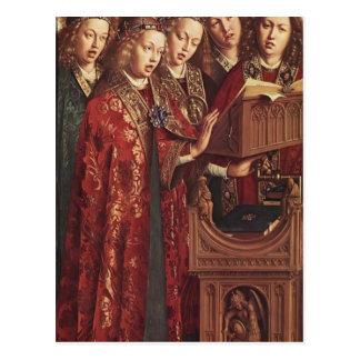 Cartão Postal Altar de janeiro camionete Eyck- Ghent (detalhe)