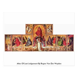 Cartão Postal Altar do último julgamento por Rogier van der