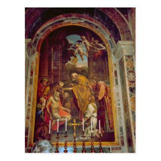 Cartão Postal Altar lateral na basílica de St Peter