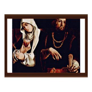 Cartão Postal Altarpolyptychon da crista de Recanati dos Wi
