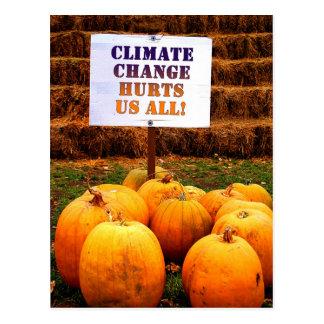 Cartão Postal Alterações climáticas do protesto das abóboras