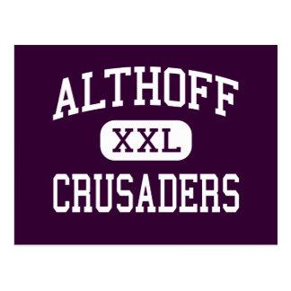 Cartão Postal Althoff - cruzados - católico - Belleville