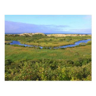 Cartão Postal Alturas nacionais do peregrino do litoral de Cape
