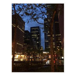 Cartão Postal Alvorecer da manhã no Midtown Center NYC de