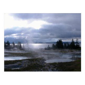 Cartão Postal Alvorecer em Yellowstone