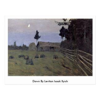 Cartão Postal Alvorecer por Levitan Isaak Ilyich