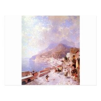 Cartão Postal Amalfi por Franz Richard Unterberger