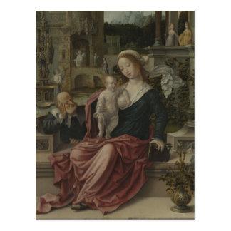 Cartão Postal Amamentação de Mary de Jesus e de mãe