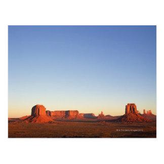 Cartão Postal Amanhecer no Navajo do vale do monumento tribal
