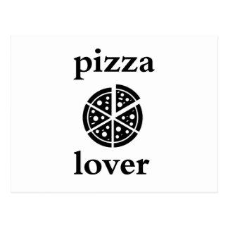 Cartão Postal amante da pizza
