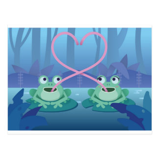 Cartão Postal amantes do sapo do dia dos namorados