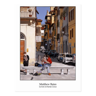 Cartão Postal Amantes em Santa Croce