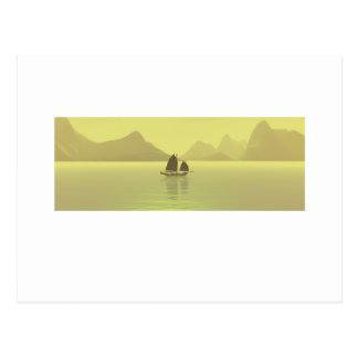 Cartão Postal Amarelo chinês da sucata